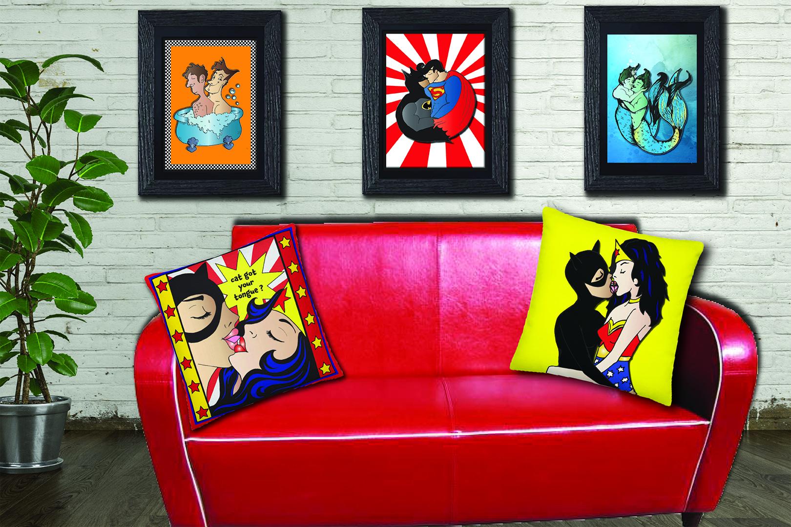 agha cushion poster