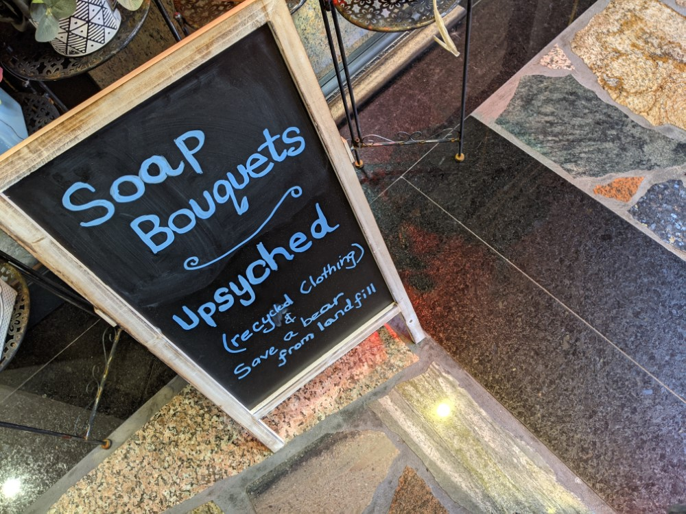 Upsyched Soap Bouquets Sign (Custom)